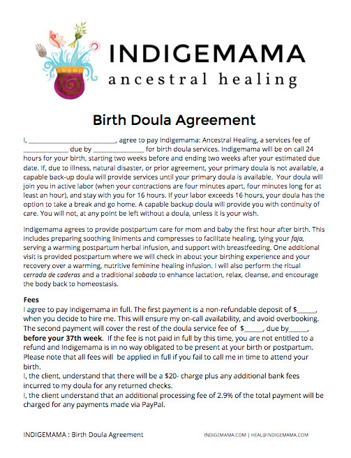 BirthDoulaAgreement